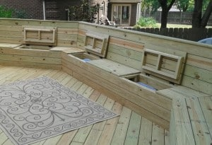 Wooden-Deck-with-Built-In-Bench-for-Sitting-and-Storage