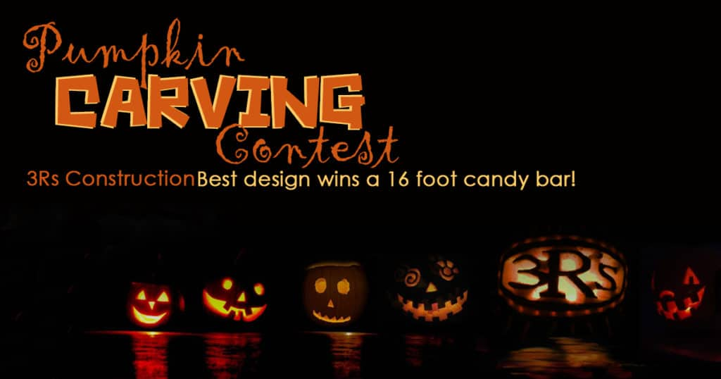 3Rs Construction in Salem Oregon is having a Pumpkin Carving Contest