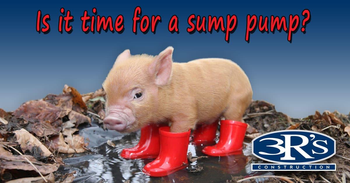 3Rs Construction Salem Oregon Sump Pump