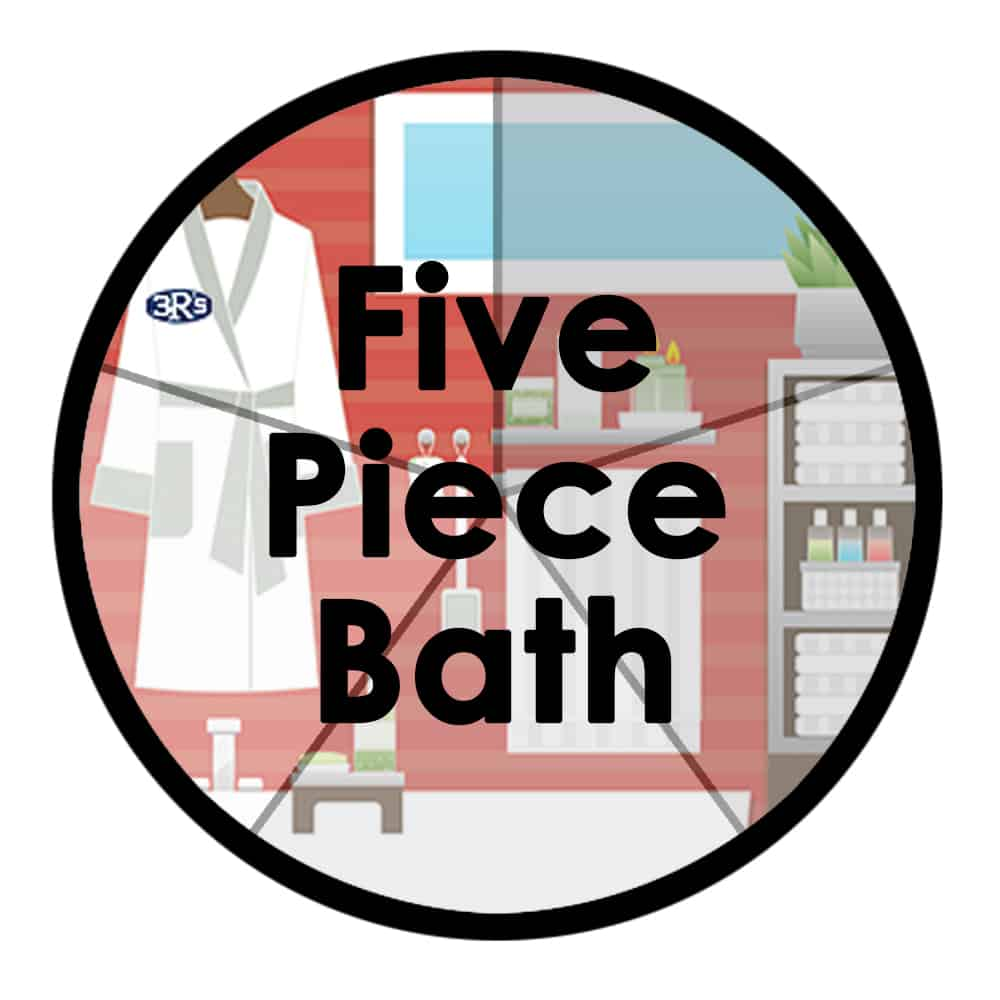 3Rs Construction five piece bathroom remodel