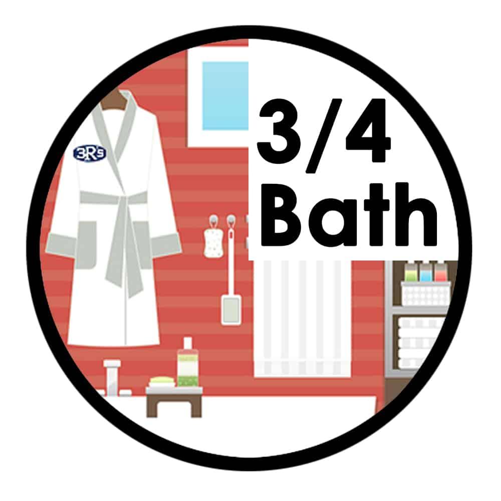3Rs Construction three quarter bathroom remodel