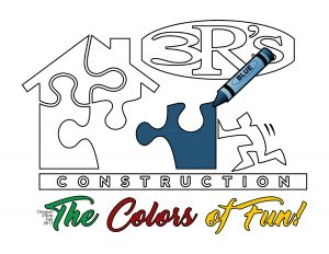 3Rs Construction Salem Oregon Logo Colors of Fun