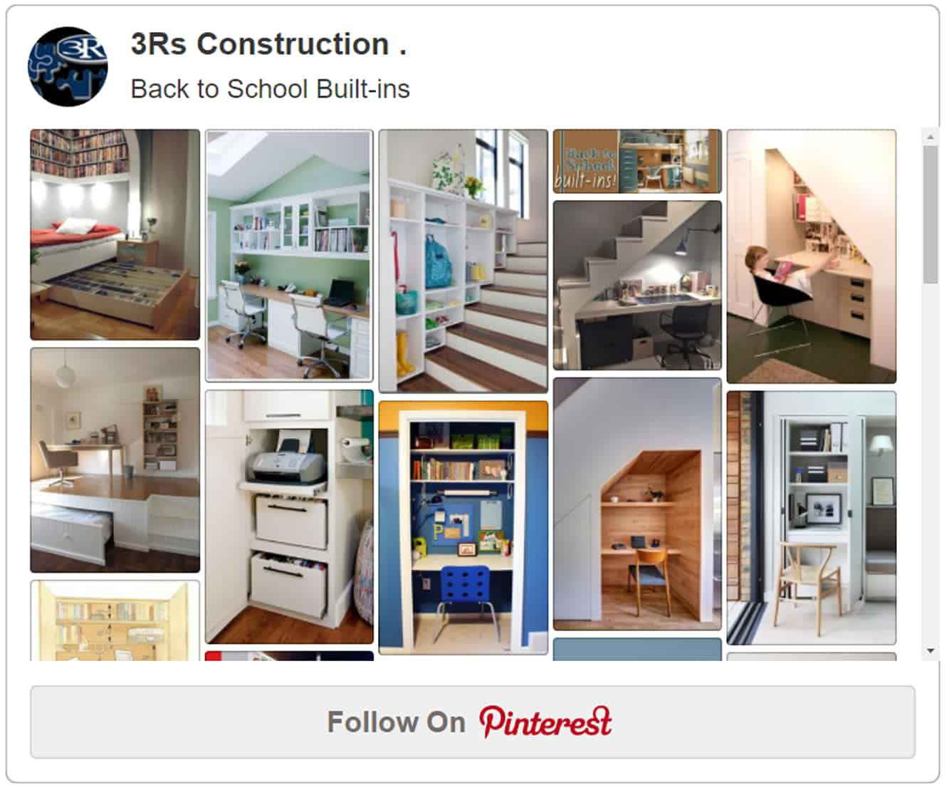 3Rs Construction Pinterest Back to School Built-ins