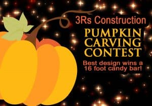3Rs Construction Salem Oregon Pumpkin Contest