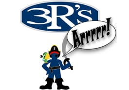 3Rs Logo Man as Pirate