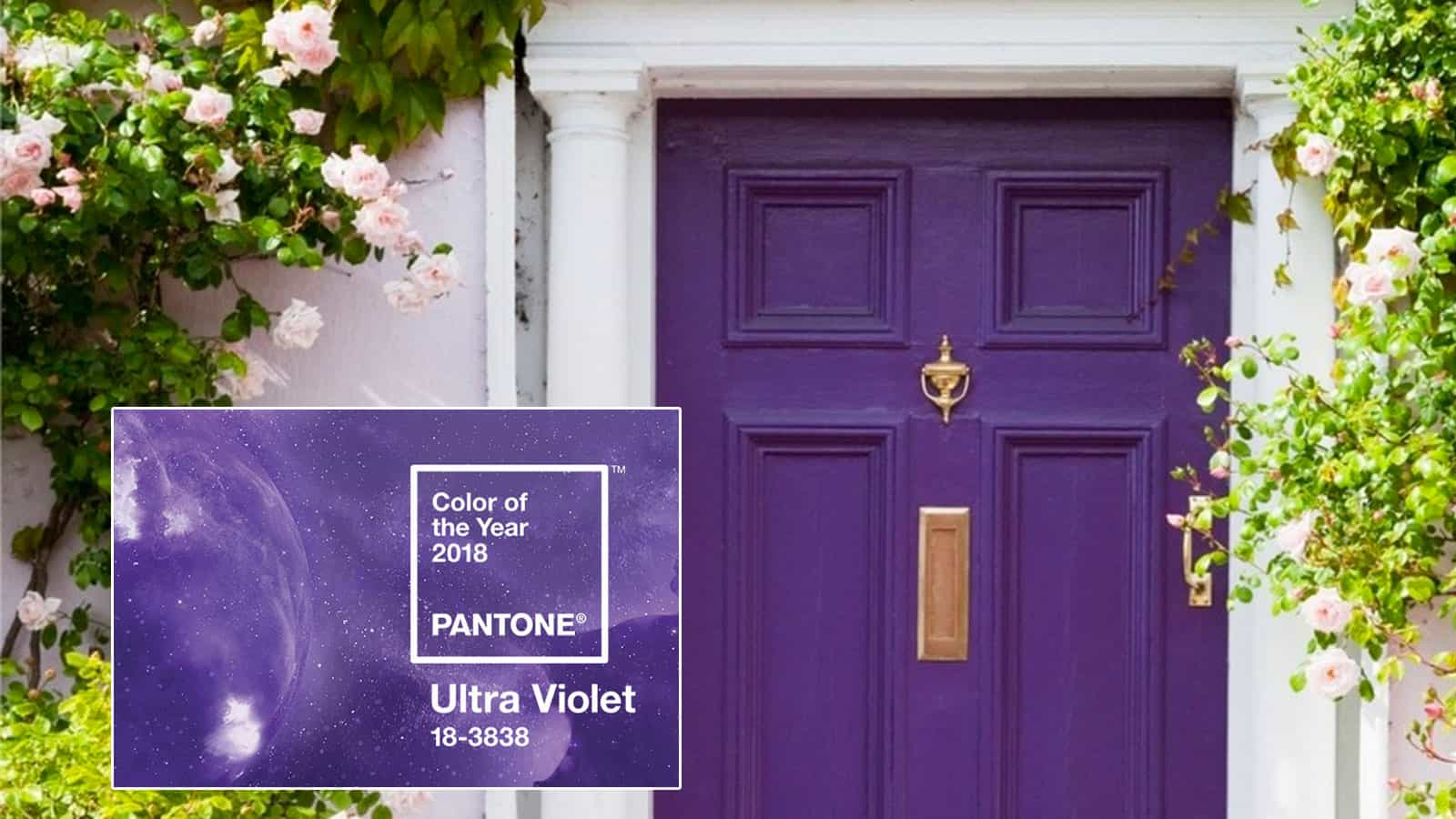 3Rs Recommends Pop of Color Ultra Violet Door