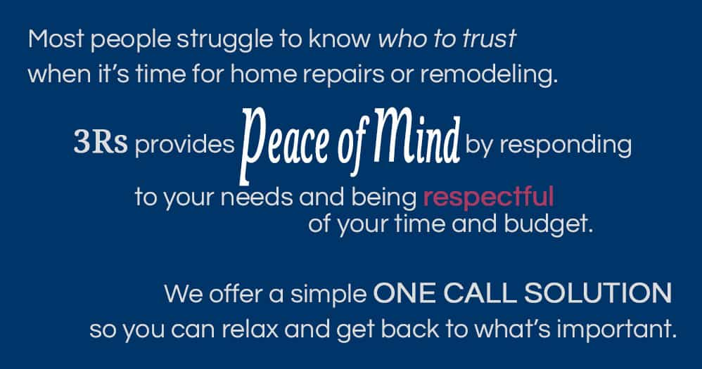 3Rs Construction Salem Oregon provides peace of mind