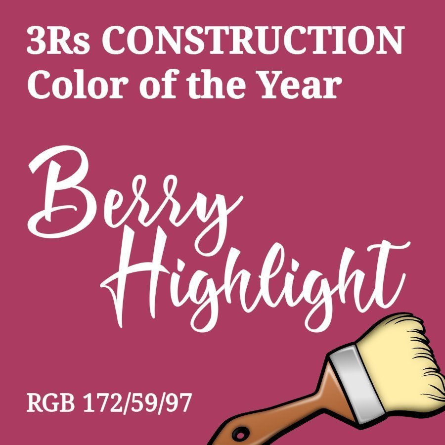 Berry Highlight 3Rs Construction Color of the Year