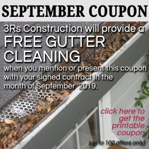 3Rs Construction September 2019 Coupon