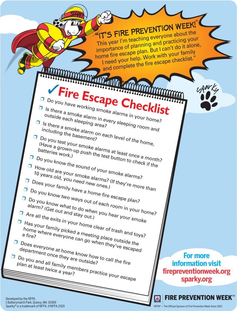 Fire Prevention Week Checklist