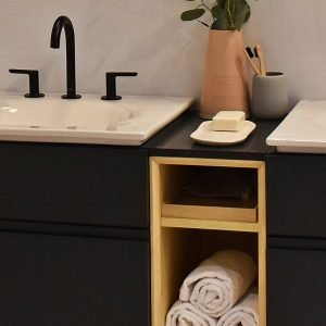 Bathroom wood Accents 3Rs Construction