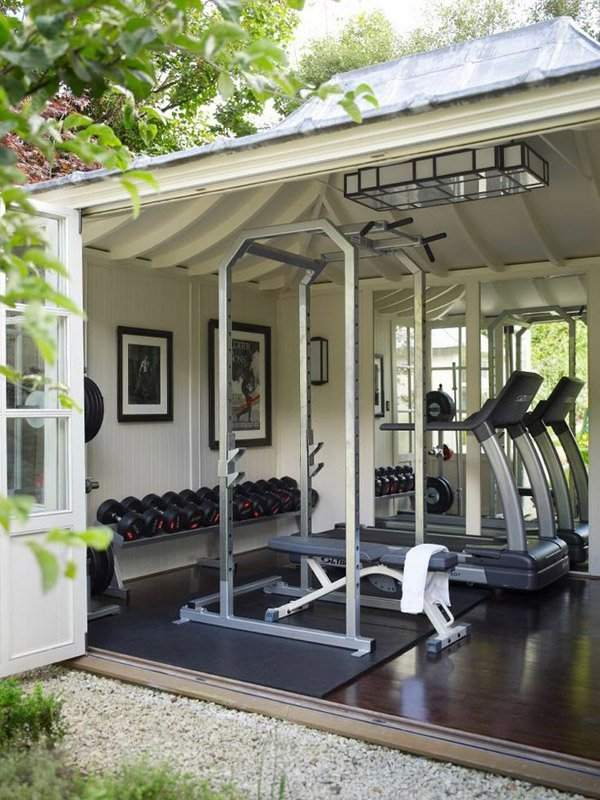 FITNESS shed Outdoor Living Space