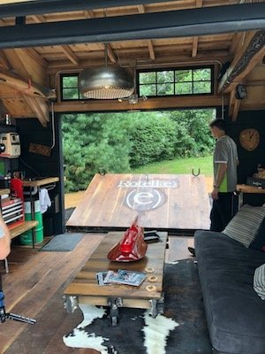 MANCAVE shed Outdoor Living Space