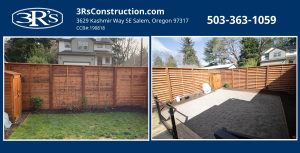 3Rs Construction before and after Fence repair and improvements