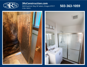 3Rs Construction Before and After Bathroom Repair and Remodel