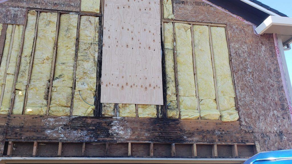 Window leaks behind siding