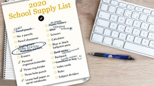 The 2020 school supply list looks different this year