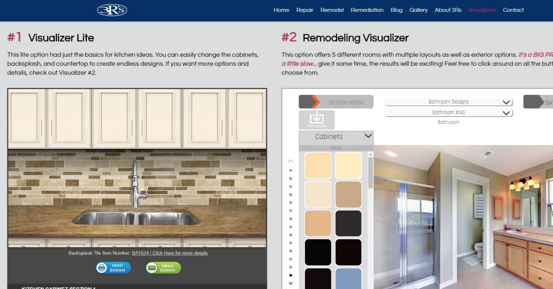 3Rs Construction Remodeling Visualizer